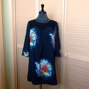 Twinkle by Wenlan Black and Floral Dress size 2